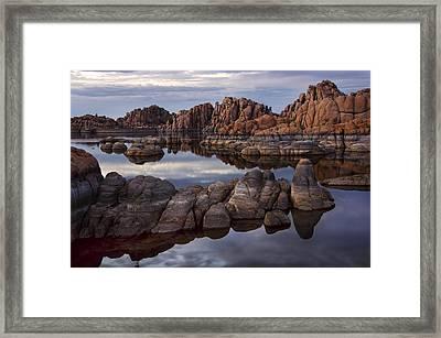 Granite Dells At Watson Lake Arizona Framed Print by Dave Dilli