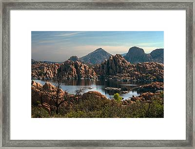 Granite Dells At Watson Lake Framed Print