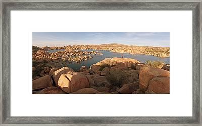 Granite Dells Panoramic 2 Framed Print by Tam Ryan