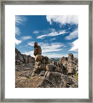 Granite Forms Framed Print