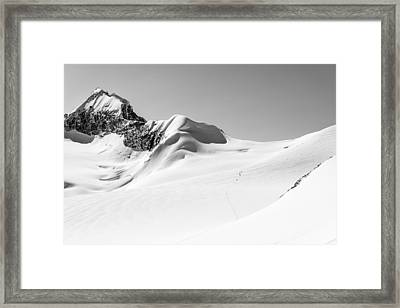 Granite Glacier Framed Print by Ian Stotesbury