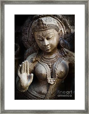 Granite Indian Goddess Framed Print
