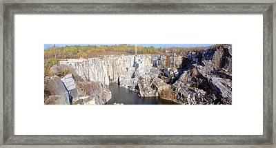 Granite Quarry, Barre, Vermont Framed Print