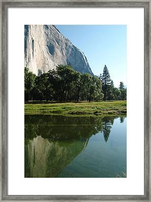 Granite Reflection Framed Print by Gary Prather