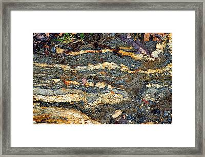 Framed Print featuring the photograph Granite Trail by Allen Carroll