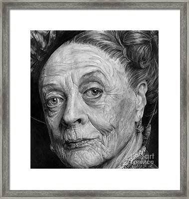 Grannies 12#05. Maggie Smith Framed Print