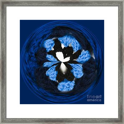 Granny Circle Framed Print by Anne Gilbert