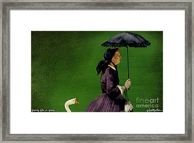 Granny Gets A Goose... Framed Print by Will Bullas