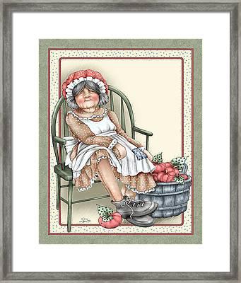 Granny Rag Framed Print