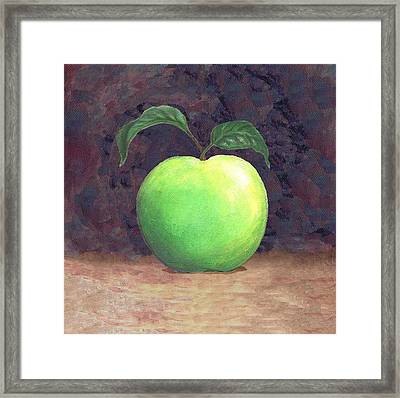 Granny Smith Apple Two Framed Print by Linda Mears
