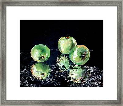 Granny Smith Framed Print by Iya Carson