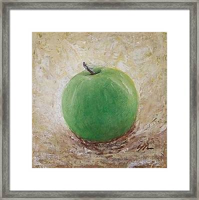 Framed Print featuring the painting Granny Smith by Jane  See