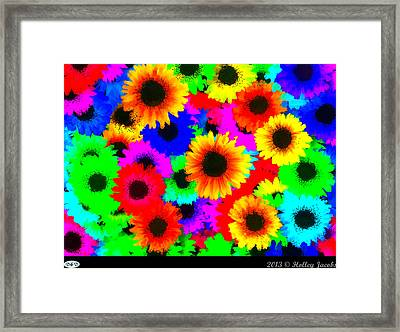 Granny's Garden Colorful Framed Print