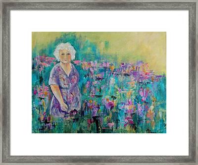 Granny's Garden Framed Print