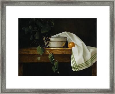 Granny's Mixing Bowl Framed Print by Barbara A Jones