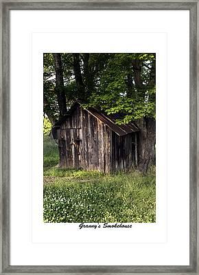 Granny's Smokehouse Framed Print by Terry Spencer