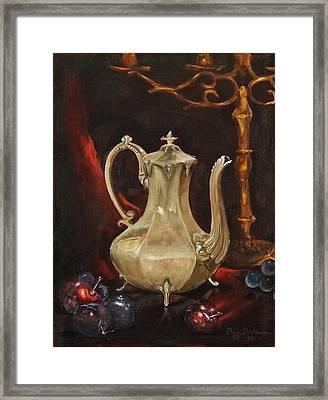 Grannys Teapot Framed Print