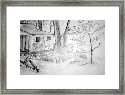 Granpa's Backyard IIi Framed Print by Helena Bebirian