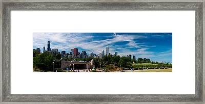 Grant Park Chicago Skyline Panoramic Framed Print by Adam Romanowicz