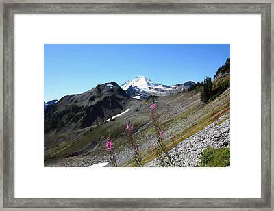 Grant Peak Of Mount Baker Framed Print by Gerry Bates