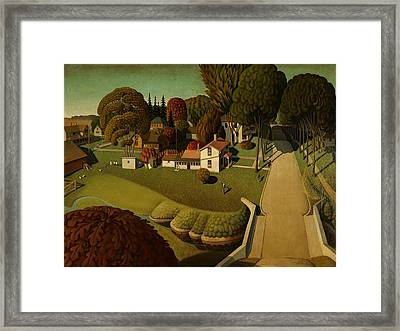 Grant Wood Birthplace Of Herbert Hoover 1931 Framed Print by Movie Poster Prints