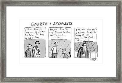 'grants & Recipients' Framed Print by Roz Chast