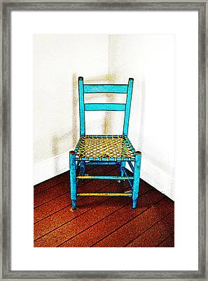 Granular Blue Framed Print by Holly Blunkall
