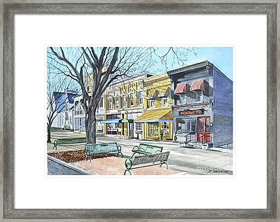 Granville Ohio Benches And Branches Framed Print