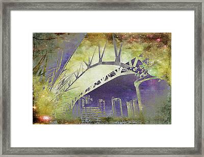 Granville Street Bridge - Inside Out Framed Print