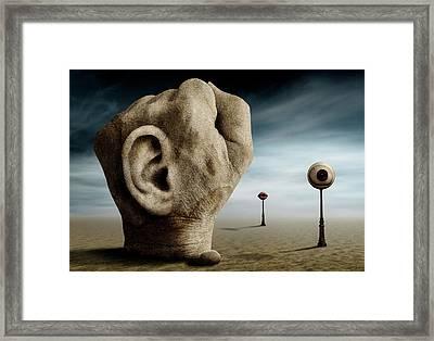 Grap The Power Of Communication. Framed Print