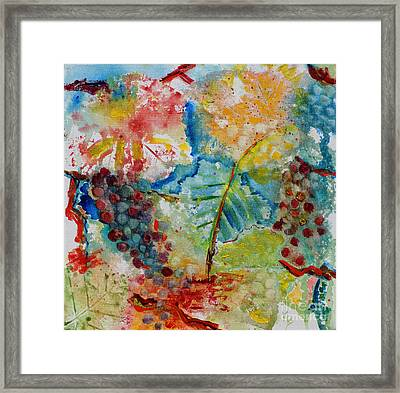 Grape Abstraction Framed Print