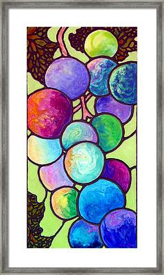 Framed Print featuring the painting Grape De Chine by Sandi Whetzel