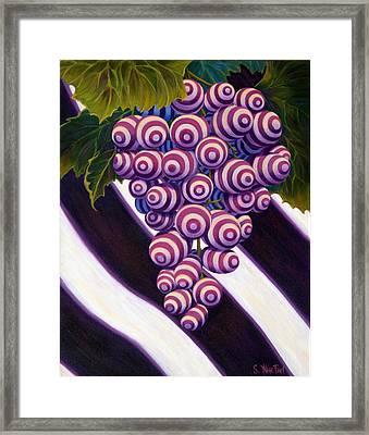 Grape De Menthe Framed Print