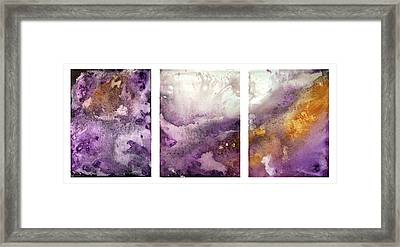 Grape Impressions Original Madart Painting Framed Print by Megan Duncanson