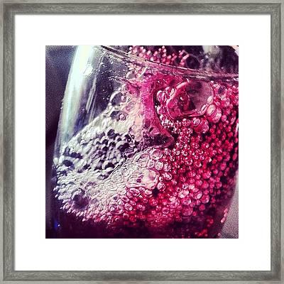 Grape Juice Or Grape Wine? #grape Framed Print