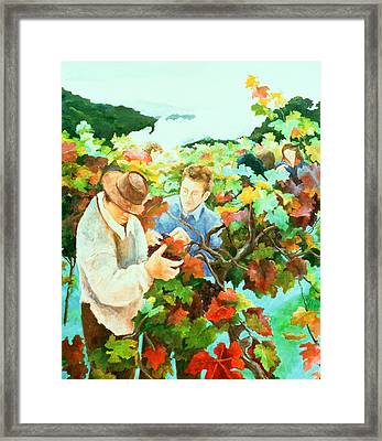 Grape Pickers Framed Print by Cristiana Angelini