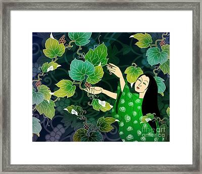 Grape Picking Framed Print by Bedros Awak