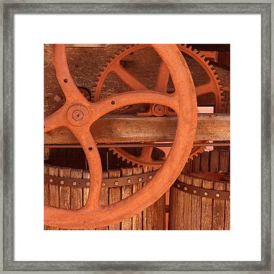 Grape Press Framed Print by Art Block Collections