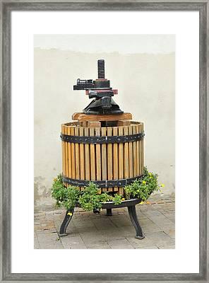 Grape Press Framed Print by Matthias Hauser