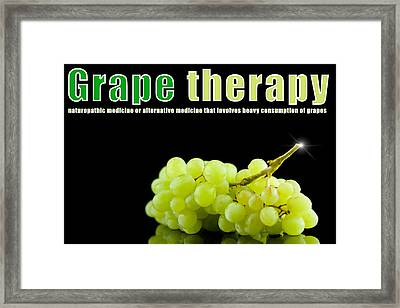 Grape Therapy Framed Print by Tommytechno Sweden