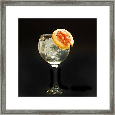Grapefruit Gin Tonic Framed Print by Gina Dsgn