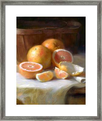 Grapefruit Framed Print by Robert Papp
