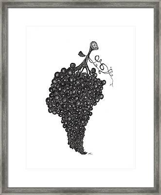 Grapefull Greetings Framed Print