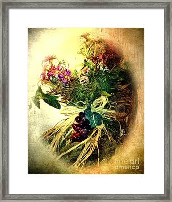 Grapes And All Framed Print by Arne Hansen