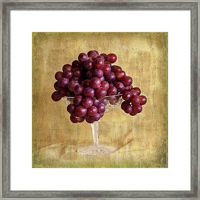 Framed Print featuring the photograph Grapes And Crystal Still Life by Sandra Foster