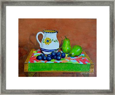 Grapes And Pairs Framed Print
