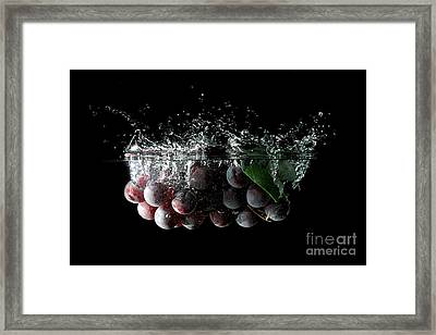 Grapes Framed Print by Andreas Berheide