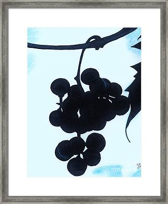 Framed Print featuring the drawing Grapes by D Hackett
