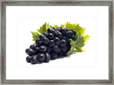 Grapes Framed Print by David Blank