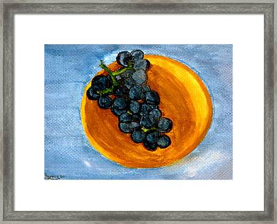 Grapes In Bowl Framed Print